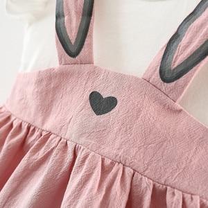 Платье для маленьких девочек, костюм для новорожденных, комплект для маленьких девочек, платье без рукавов с изображением кролика, кролика, уха, шорты, одежда для маленьких девочек, одежда