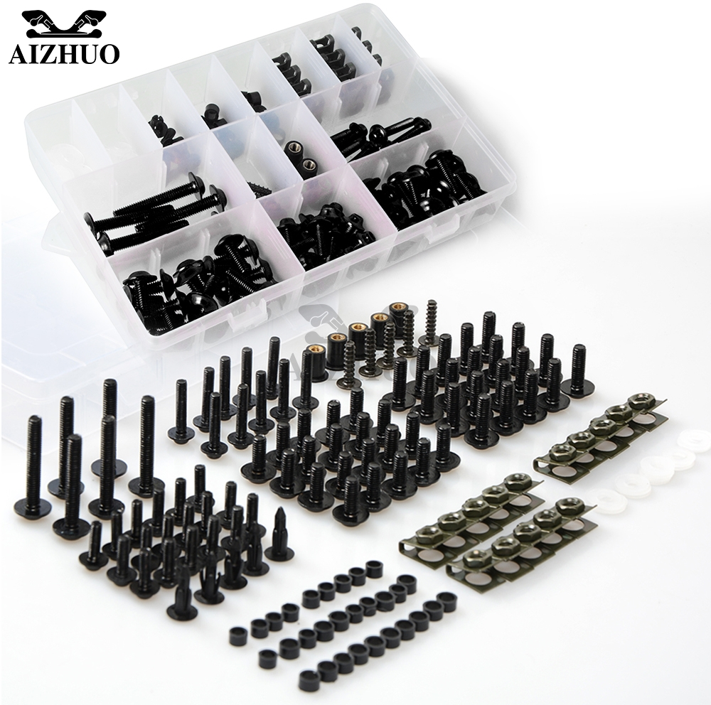 Motorcycle Fairing Bolts Screws <font><b>Body</b></font> Spring Bolts <font><b>Kit</b></font> For <font><b>YAMAHA</b></font> YZF-R25 R3 XJR400 XJR1200 XJR1300 FZX250 T MAX TMAX 500 530 <font><b>R6</b></font> image