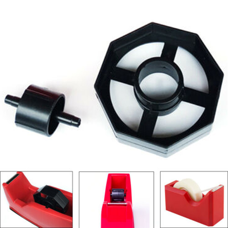 1 Set Heavy Duty Tape Dispenser Wheel Replacement Spare Black Plastic Spin