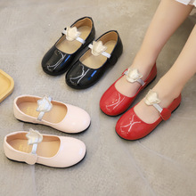 Flats for Girls Spring & Autumn New Kids Shoes Shallow Mouth Crown Flat Princess Shoes Children's Wedding Shoes plus size flat shoes woman fashion bow big size women flats shallow mouth women s shoes for spring autumn size 35 43 wsh2345