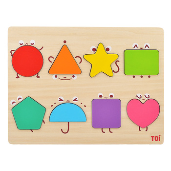8 Pcs Wooden Puzzle Cartoon Geometric Shape Puzzle Wooden Toy Montessori Early Education Children Toys free shipping baby wooden montessori teaching aids puzzle toy children early education puzzle kids geometric shape puzzle toy