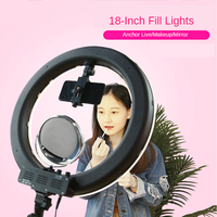 18 inch LED Ring Light 3200 5600K Photography Dimmable Selfie Ring Lamp Video Lighting for Makeup Video Live