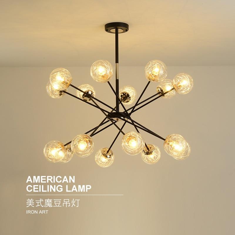 Modern Lustre Pendente Luminaire Suspendu Glass  Restaurant  Home Decoration E27 Light Fixture Deco Chambre
