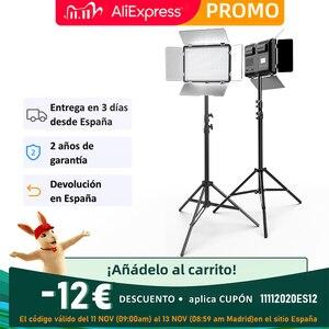 Image 2 - Набор для студийного освещения SPLASH TL 600S 2, светодиодная лампа для фото  и видеосъемки Youtube, 600 ламп, 25 Вт, штатив 200 см, аккумулятор
