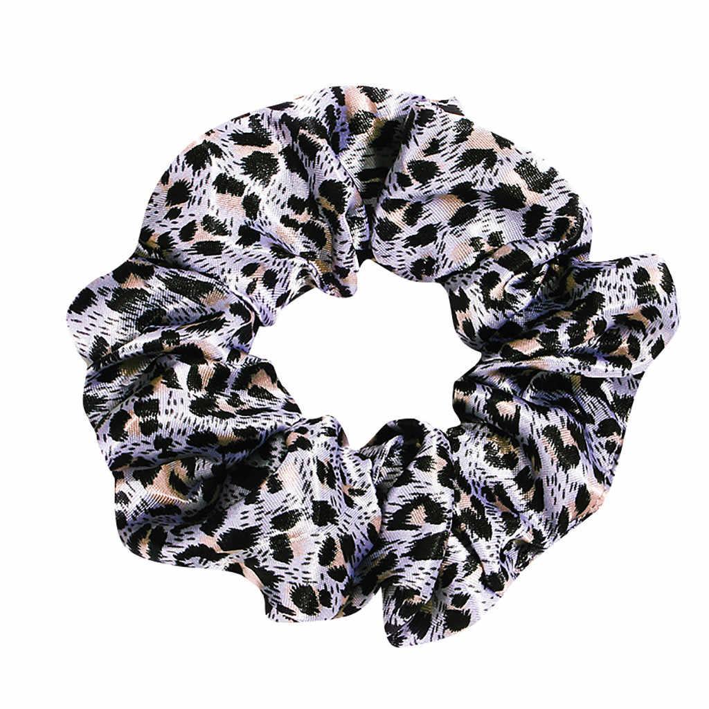 Тканевый ободок для волос с леопардовым принтом, кольцо для волос, принт с бантом, Женский наголовный обруч, повязка на голову для девочек, конский хвост, зажим для волос аксессуары
