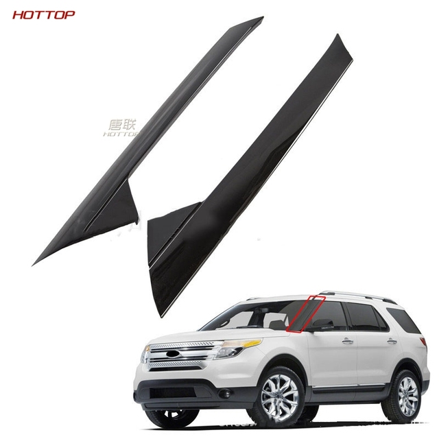 For Ford Explorer 2011-2019 Front Windscreen Exterior Panel Front Windshield Trim Panel Front Block Column Trim Strip WithBuckle 1