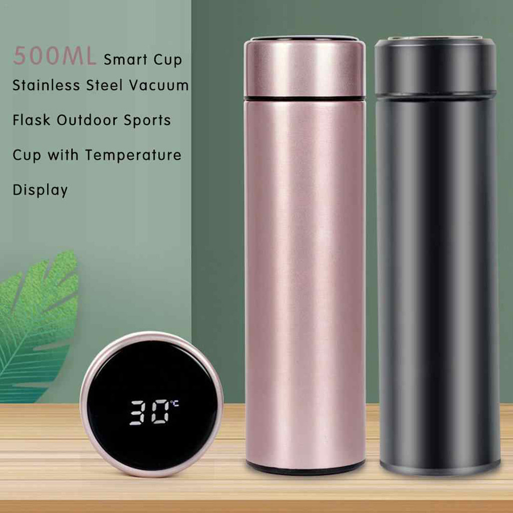 500ml Stainless Smart Insulation Water Bottle Cup with LED Temperature Display
