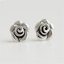 925 sterling silver Stud earrings Contracted Thai flowers Womens fashion joker jewelry wholesale