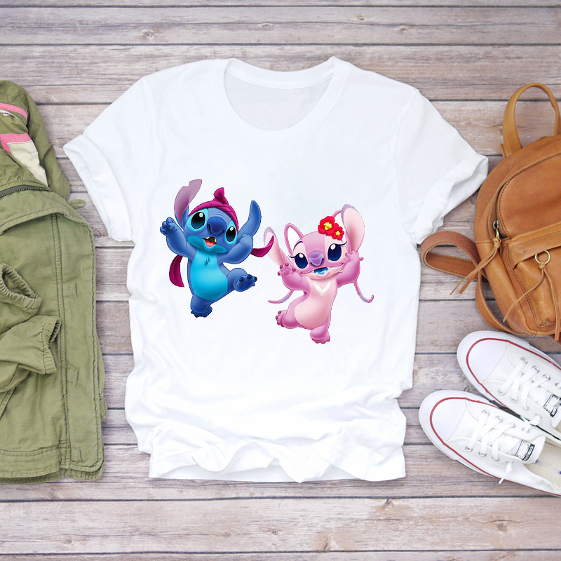 Ladies Womens Top T Shirt Graphic Female Tee T-Shirt Women 2020 Cartoon Stitch Bird Maleficent Fashion Clothing Lady T-shirts
