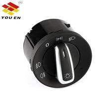 YOUEN Auto Car Headlight Fog Light Control Switch Replacement For Golf 5 6 MK5 MK6 Passat B6 B7 CC Touran Tiguan