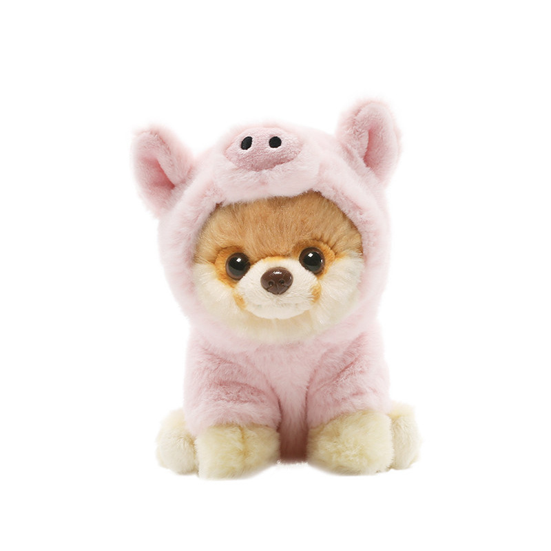 Dog Doll Dress Dog Hat Head Band Cartoon Animation Doll Douyin Gift Plush Toys Customizable