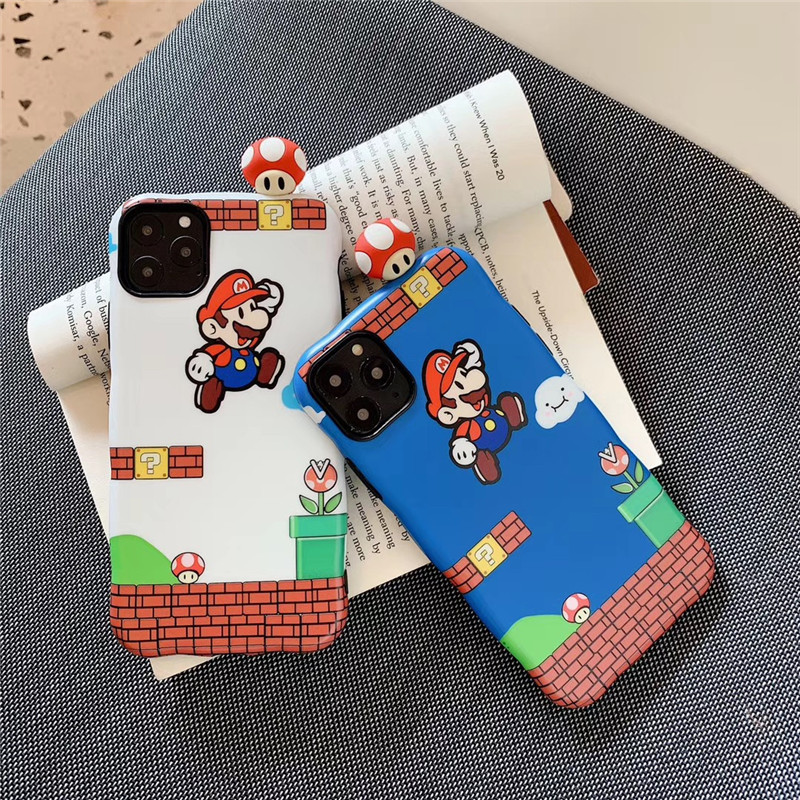 Cute Luxury 3D Cartoon Game Boy Super Marie Doll Silicone Phone Case For Iphone X XR XS 11 Pro Max 6S 7 8 Plus Cover Coque
