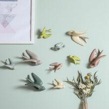 Accesorios de decoración de pared para el Hogar, decoración con forma de pájaros 3D, ornamento colgante, artesanías, colgante, Hogar Moderno, 1 unidad