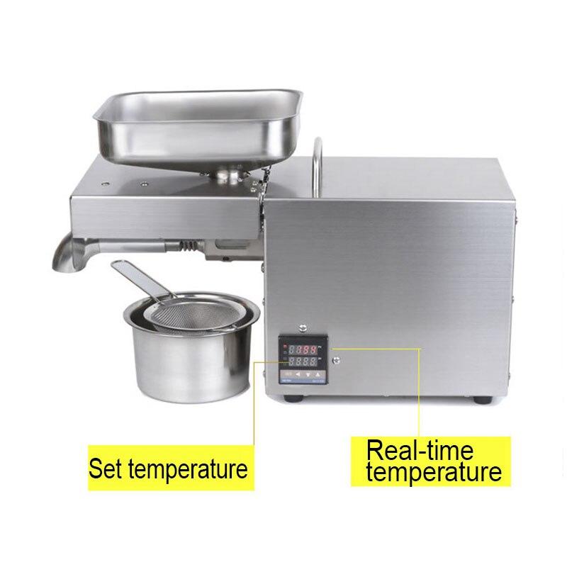 220V 1500WMax Voll Automatische Kaltpressung Ölpresse Hohe Temperatur Ölpresse Erdnuss Kokosöl Drücken - 2