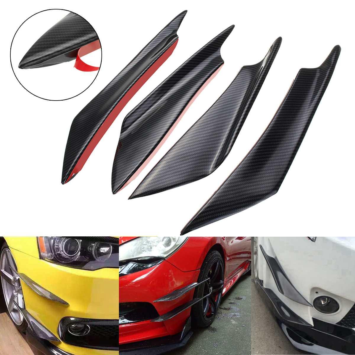 Carbon Fiber Front Bumper Splitter Fins Spoiler Canards Valance Chin for  Mazda