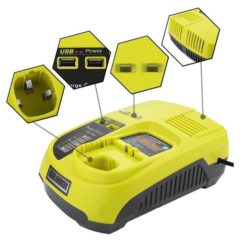 Tool Accessory P117 NI-CD NI-MH Li-ion Battery Charger For RYOBI 12V 14.4V 18V ONE+ Serise Charger P102 P103 P104 P105 P107 P108