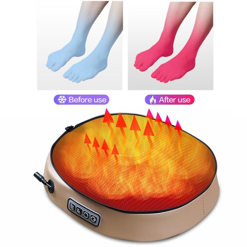 2020 elektryczny masażer do stóp urządzenie do masażu rolkowego moda skórzany masażer do tylnej stopy podczerwień z ogrzewaniem Shiatsu ugniatanie