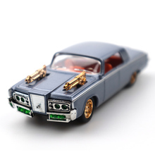 1/32 The Black Beauty Diecast Metal Car Models High Simulation Vehicle Toy With Light Music Can Be Opened 4Colors Gifts Children