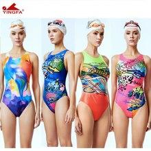 Yingfa בגדי ים נשים בגדי ים ילדים מירוץ ילדים תחרותי בגד ים בנות תחרות אימון לשחות חליפת מקצועי