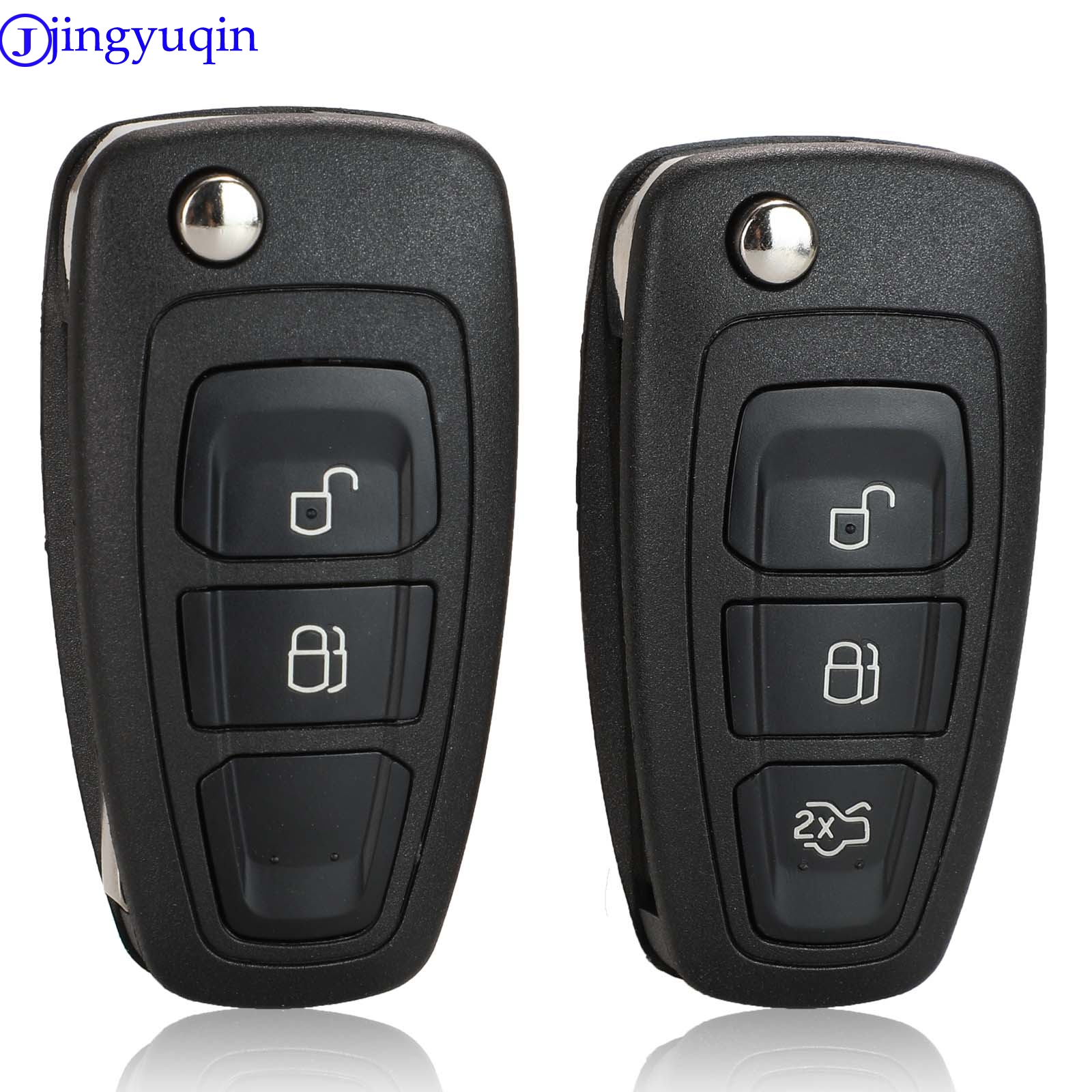 jingyuqin Remote Key Case Shell For Ford Ranger 2011 2012 2013 2014 2015 2 Button HU101 title=