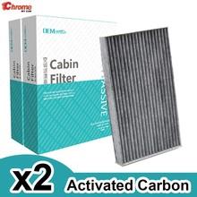B7891-1FC0A B7891-1FE0A z węglem aktywnym do samochodu pyłek filtr powietrza kabinowego dla Nissan Cube Z12 liść ZE0 2010 2011 2012 2013 2014 2PC