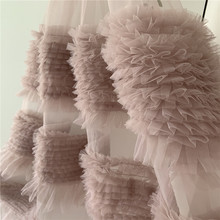 French Lace 3D Wedding Dress  DIY Bridal Headdress nude pink  Lace Fabric by the yard the yard