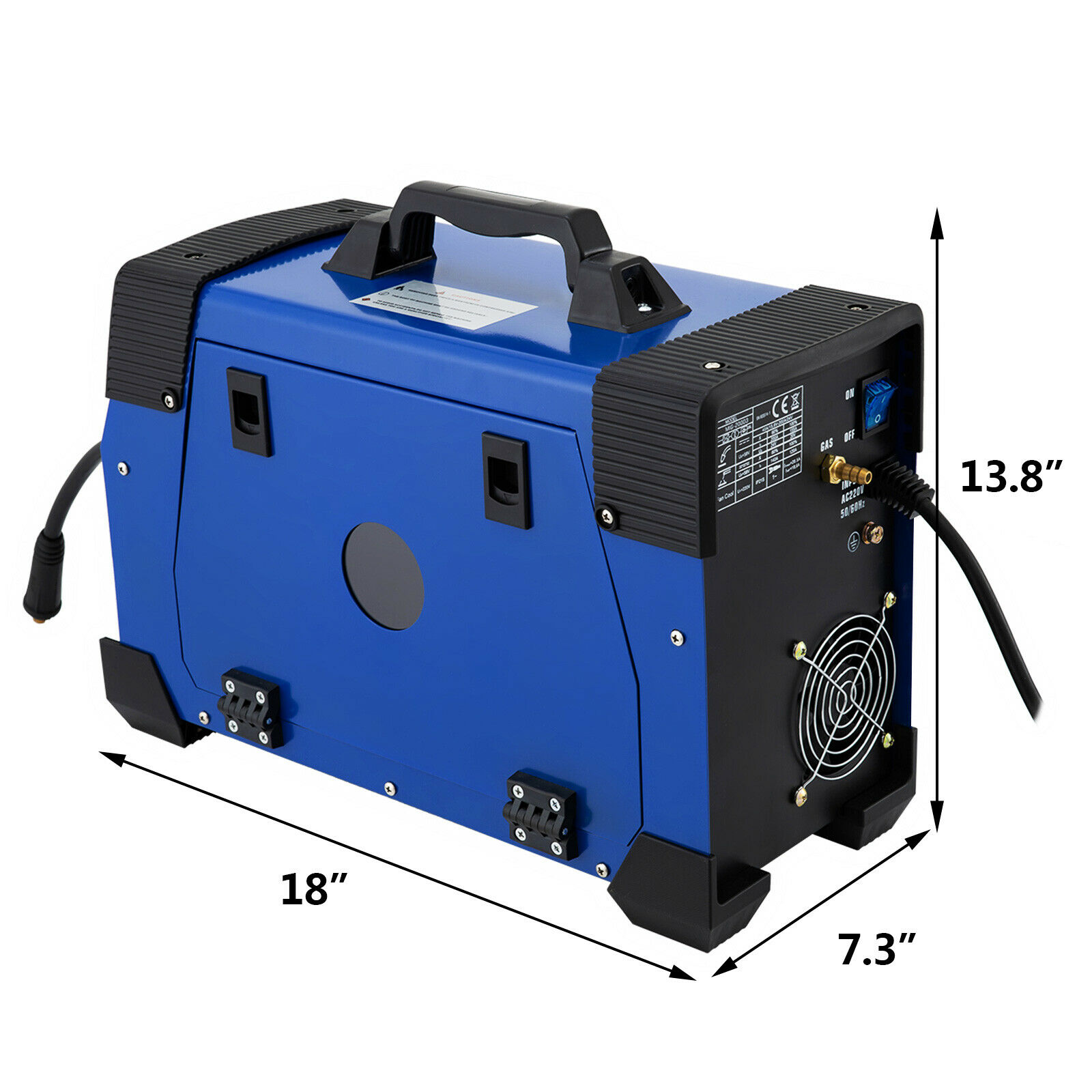 VEVOR  NEW 5 In 1 MIG / MAG / TIG /MMA Inverter Welder 200Amp Combo Welding Machine With Free Shipping