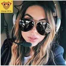 Big Brand design Aviation sunglasses Men fashion shades mirr