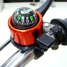 цена на 1PC Bicycle Handlebar Bell With Compass Decoration Aluminum Alloy Bike Ring Horn Mountain Bike Bell Warning Alarm Bicycle Bell
