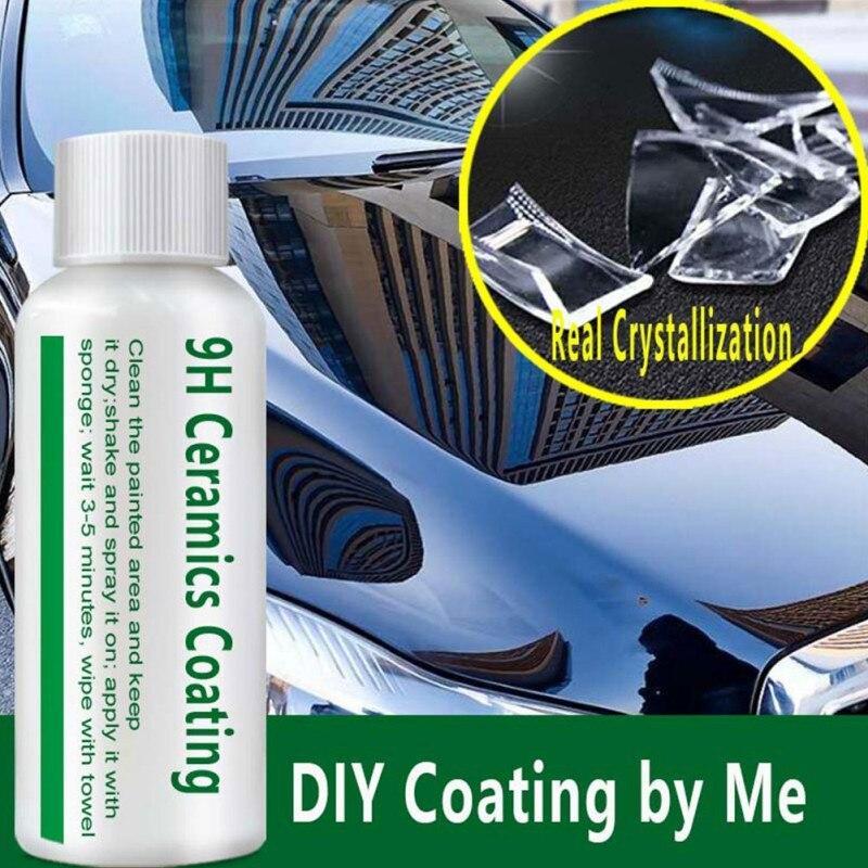 9H cerámica revestimiento de coche vidrio líquido impermeable Nano Cerámica Cuidado de la pintura del coche líquido Anti-rayado vidrio súper hidrofóbico revestimiento