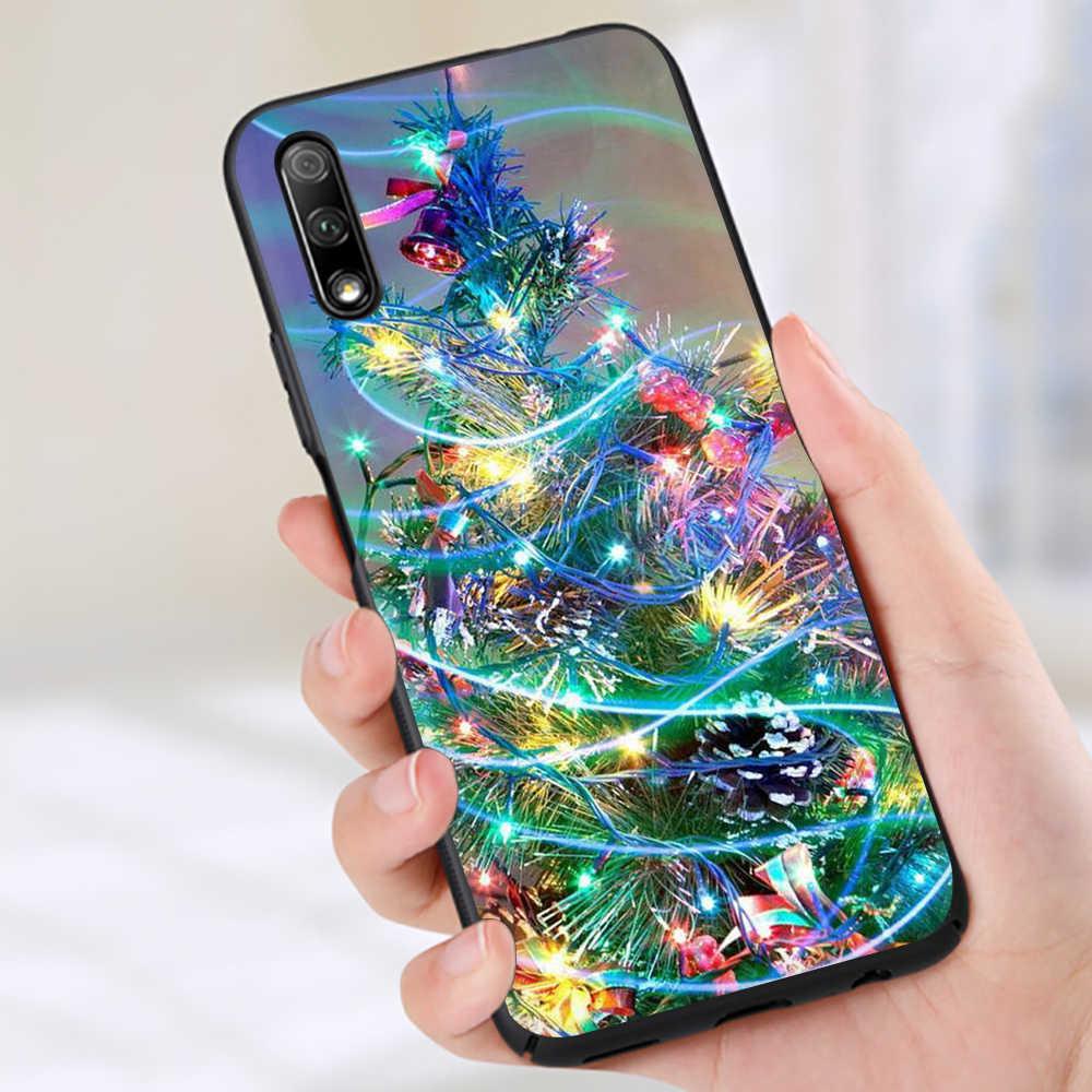2020 السنة الجديدة عيد الميلاد سيليكون الهاتف حافظة لهاتف huawei الشرف 6A 7A 7C 7X 8C 8X8 9 10 لايت ملاحظة 10 الرؤية 20 9X برو