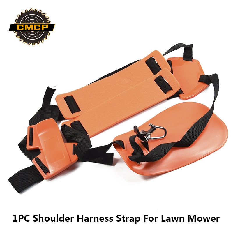 Profression Grass Trimmer Belt Brush Cutter Nylon Starp Shoulder Harness Strap For Lawn Mower Orange Mower Double Shoulder Strap
