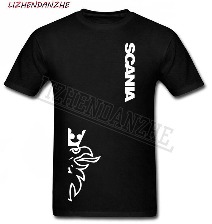 SCANIA truck bus LOGO men's   T  -  shirt  , summer cotton high quality fashion fashion short-sleeved   T     shirt   car auto Tshirt tee AAA+87