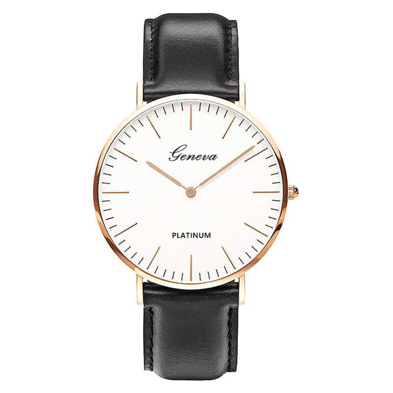 2020 Fashion Women Watches Simple Ultra-thin Rose Gold Silver Lady Watch Casual Leather Strap Quartz Wristwatch Relogio Feminino