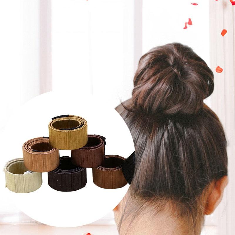1 Pc Synthetic Wig Donut Hair Bun Maker Women Headband Magic Bun Maker Hair Accessories French Dish Twist DIY Hair Styling Tool|Braiders|   - AliExpress