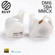 BGVP DM6 wired hifi 5BA Noice Cancelling kopfhörer video spiel headset 3,5mm mmcx audio abnehmbare kabel ohrhörer monitor kopfhörer