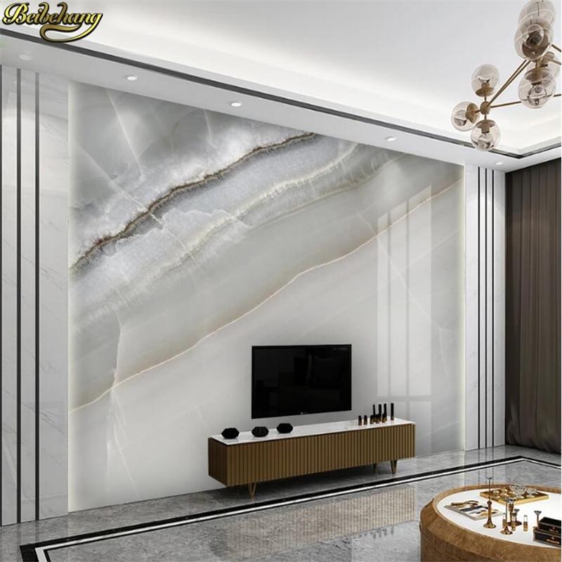 Beibehang Custom White Slab Marble Large Mural Canvas Wallpaper For Bedroom Walls TV Background Decor Wallpapers For Living Room