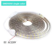 SMD Tira CONDUZIDA Tira CONDUZIDA Impermeável Ao Ar Livre Branco Quente SMD 5050 Luz de Tira CONDUZIDA 1M 2M 3M 5M 10M 20M 25M 220V Faixa de Luz Flexível