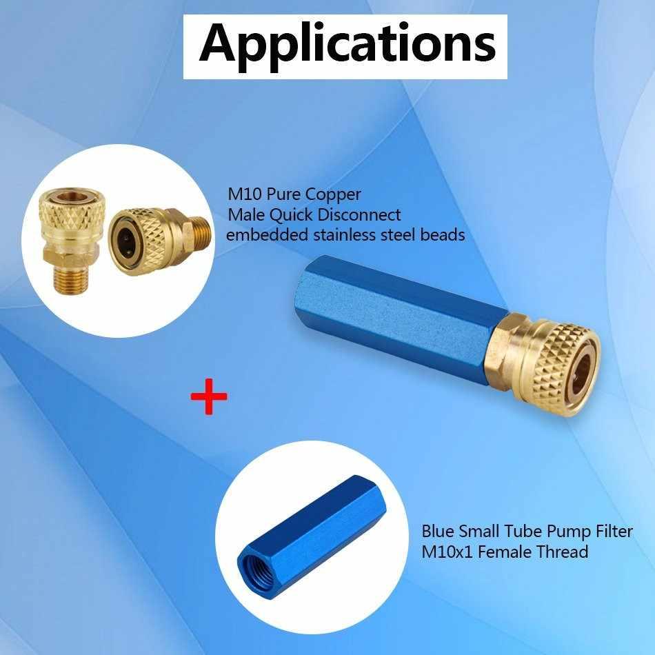 Separador de aceite de agua con bomba de mano Airsoft PCP con liberación de desconexión rápida hembra M10x1 elemento de filtro sin rosca compresor de aire