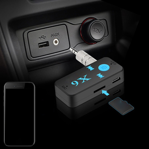 Image 2 - X6 3.5MM Aux Jack Bluetooth 4.1Receiver Support TF Card A2DP Audio Stereo Bluetooth Adapter  Wireless Hands Free Music Receiver