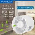 Abs round duto ventilador de exaustão booster ventilação ventilação ar 4 for 5 5 5 6 6 'para a cozinha banheiro banheiro parede janela 220 v 110 v