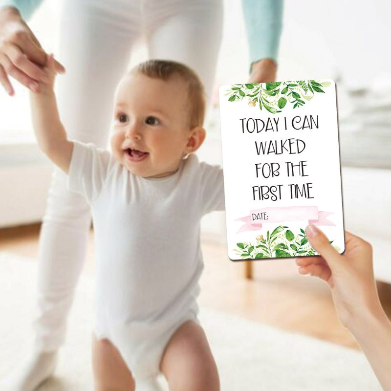 Baby Monthly Cards Sticker Photography Photo Age Cards Baby Shower Registry Gift U50F