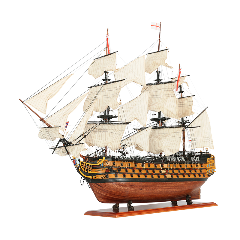 Large Sailboat Model Ornaments Indoor Finished Product Royal Victory Boat 1.1 Meters