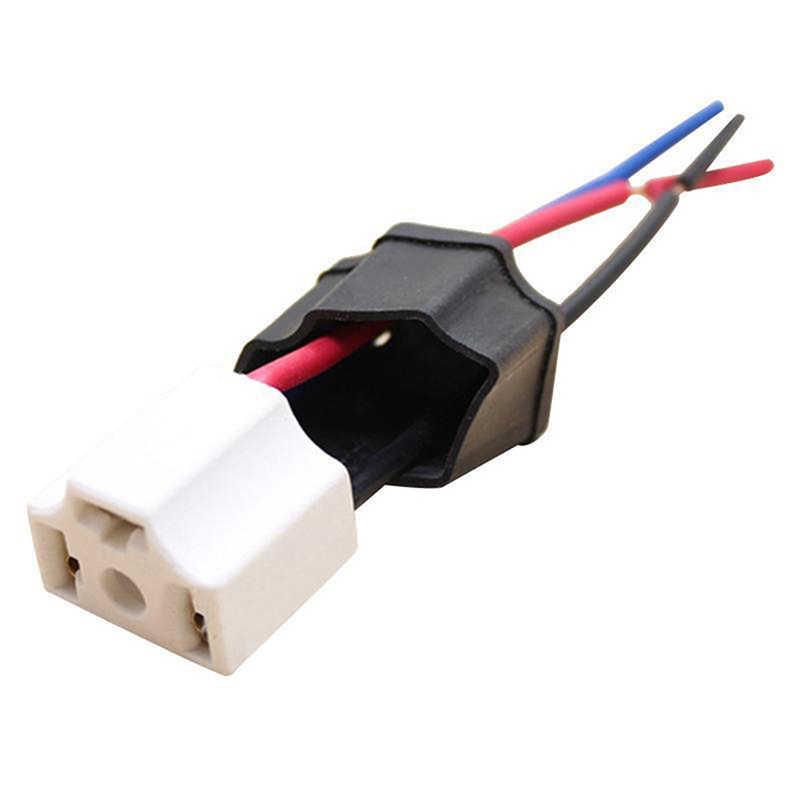 1 PC H4 9003 เซรามิคสายไฟรถหลอดไฟ Harness SOCKET Plug