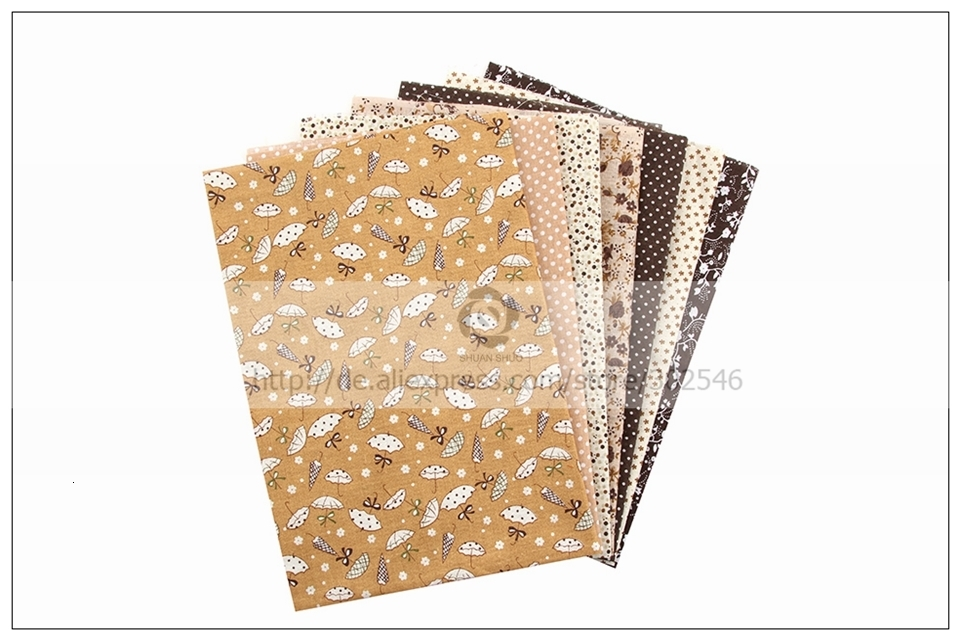 Hcde2a797e8774b3582b078fd9ad478bbd 7pcs 24x24cm Mixed Printed Cotton Sewing Quilting Fabrics Basic Quality for Patchwork Needlework DIY Handmade Cloth
