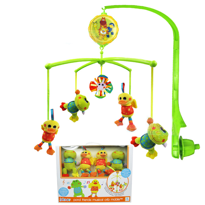 Baby Rattles Crib Mobiles Toy Holder Rotating Crib Mobile Bed Bell Musical Box For 0-12 Months Newborn Infant Baby Boy Toys