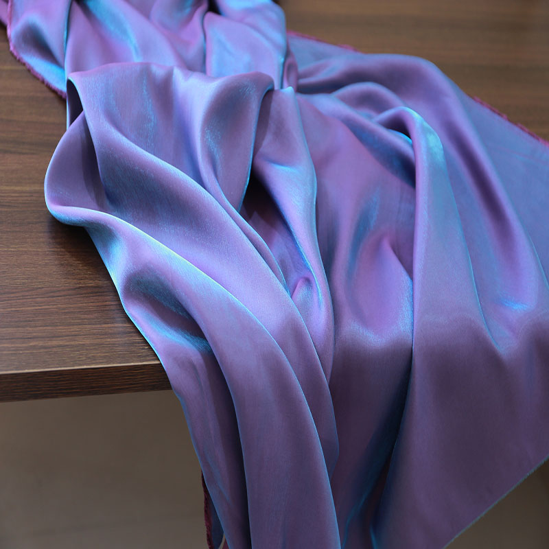 Suffer bright color silk used for dress shirt fabric camisole shorts vest pants cool soft cloth sold by the meter wholesale 15-1