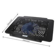 Охлаждающая подставка для ноутбука, большой вентилятор, USB Подставка для 14 дюймов, светодиодный светильник для ноутбука, Прямая поставка