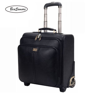 Image 4 - BeaSumore Men Business Genuine Leather Rolling Luggage 20/24 inch Retro Cowhide Wheel Suitcases 16 inch Cabin password Trolley