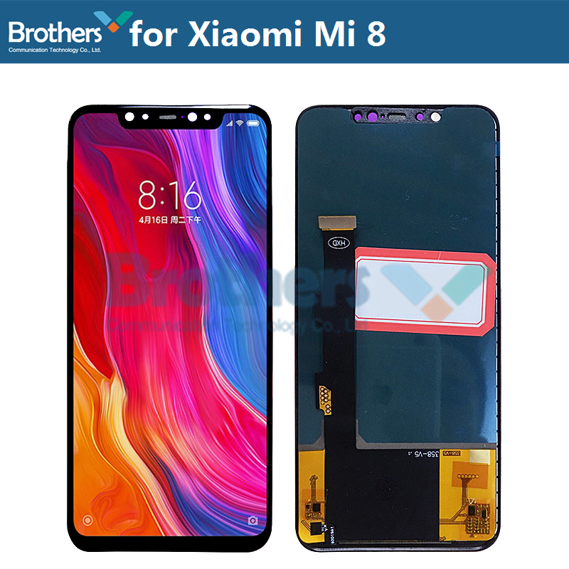LCD Display For Xiaomi Mi 8 Mi8 LCD Screen For Xiaomi Mi 8 Touch Screen Digitizer LCD Assembly 6.21'' TFT Screen Tested AAA Work